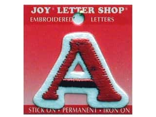 "Joy Lettershop Iron-On Letter ""A"" Embroidered 1 1/2 in. Red"