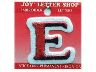 "Joy Lettershop Iron-On Letter ""E"" Embroidered 1 1/2 in. Red"