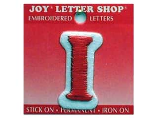 "Joy Lettershop Iron-On Letter ""I"" Embroidered 1 1/2 in. Red"