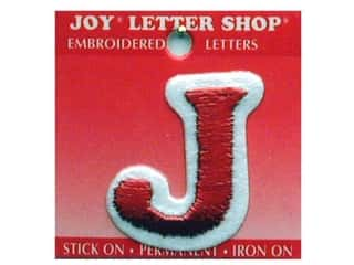 "Joy Lettershop Iron-On Letter ""J"" Embroidered 1 1/2 in. Red"