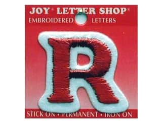 "Joy Lettershop Iron-On Letter ""R"" Embroidered 1 1/2 in. Red"
