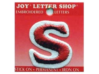 "Joy Lettershop Iron-On Letter ""S"" Embroidered 1 1/2 in. Red"