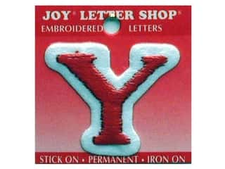 "Joy Lettershop Iron-On Letter ""Y"" Embroidered 1 1/2 in. Red"