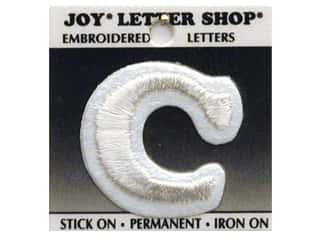 "Joy Lettershop Iron-On Letter ""C"" Embroidered 1 1/2 in. White"