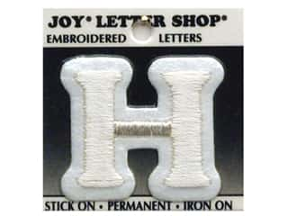 "Joy Lettershop Iron-On Letter ""H"" Embroidered 1 1/2 in. White"