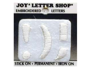 "sewing & quilting: Joy Lettershop Iron-On Character ""!);"" Embroidered 1 1/2 in. White"