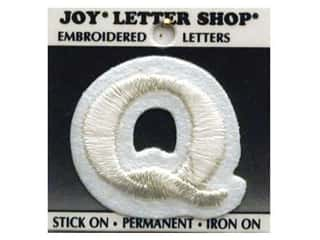 "Joy Lettershop Iron-On Letter ""Q"" Embroidered 1 1/2 in. White"