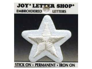Joy Lettershop Iron-On Character Star Embroidered 1 1/2 in. White
