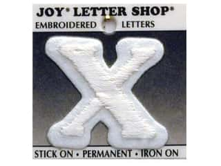 "Joy Lettershop Iron-On Character ""X"" Embroidered 1 1/2 in. White"