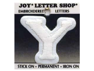 "Joy Lettershop Iron-On Letter ""Y"" Embroidered 1 1/2 in. White"