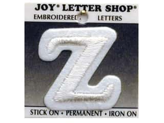 "monogram iron ons Iron On Letters & Numbers: Joy Lettershop Iron-On Letter ""Z"" Embroidered 1 1/2 in. White"
