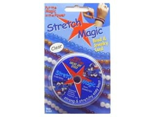 beading & jewelry making supplies: Stretch Magic Beading Cord .5mm x 32.8 ft. Clear