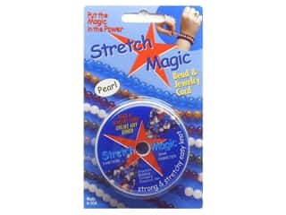 craft & hobbies: Stretch Magic Beading Cord .5mm x 32.8 ft. Pearl