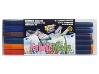 FabricMate Fabric Markers Brush Tip Standard Barrel Set Standard Colors 6 pc.