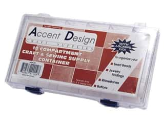 Weekly Specials Guidelines 4 Quilting Tools: Accent Design Acrylic Organizer Box 18 Compartment
