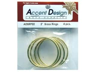 Accent Design-Basics: Brass Rings 2 in. 4 pc.