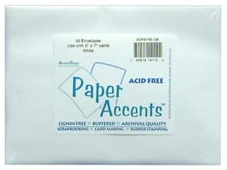envelopes: 5 x 7 in. Envelopes by Paper Accents 50 pc. #128 White