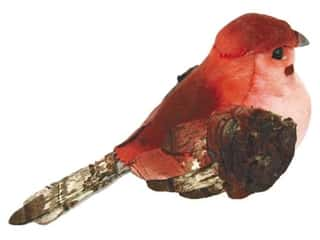 Accent Design Artificial Bird 3 1/2 in. Chickadee Pink/Brown 1 pc.