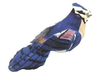 decorative bird: Accent Design Artificial Bird 3 3/4 in. Blue Jay Bk/Blue/Peach 1 pc.