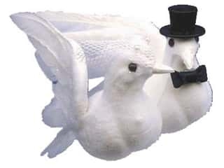 Clearance Accent Design Tissue: Accent Design Artificial Bird 4 in. Wedding Doves White Feather 1 pc.