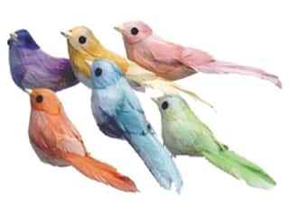 Accent Design - Garden Accents: Accent Design Artificial Bird 4 1/2 in. Swallow Asst Color Feather 1 pc.
