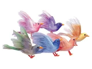 Accent Design Artificial Bird 4 1/2 in. Asst Blue/Pink Feather 1 pc.