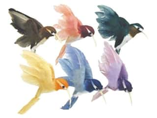Floral & Garden: Accent Design Artificial Bird 2 in. Hummingbird Assorted Color Feather 1 pc.
