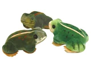 Accent Design Artificial Frog 3 in. Green/Brown/Yellow 1 pc.