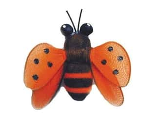 floral & garden: Accent Design Artificial Bee 1 3/4 in. Orange/Black/Brown 1 pc.