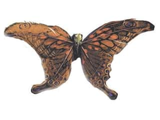 Clearance: Accent Design Artificial Butterfly 5 1/4 in. Rust/Black Feather 1 pc.