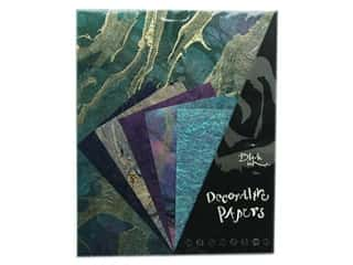 Black Ink Decorative Papers 10 pc. Beautiful Blues