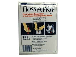 yarn & needlework: Action Bag Floss-A-Way 3 x 5 in. Organizer Bags 100 pc.