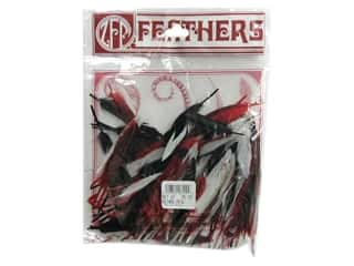 feathers: Zucker Feather Duck Cosse Red/Black/White .25oz