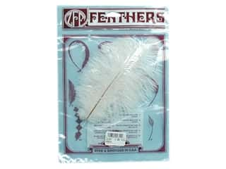 craft & hobbies: Zucker Feather Ostrich Drab Feathers 2 pc. White