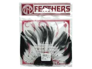 quilling: Zucker Feather Hackle Half Plate 1 pc. Black