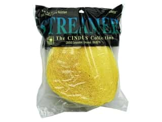 Crepe Paper Streamers by Cindus 1 3/4 in. x 81 ft. Canary Yellow