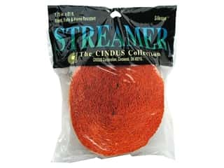 Crepe Paper Streamers by Cindus 1 3/4 in. x 81 ft. Bright Orange