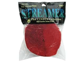 Crepe Paper Streamers by Cindus 1 3/4 in. x 81 ft. Flame Red