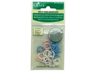 Stitch Markers: Clover Split Ring Stitch Markers 24 pc.