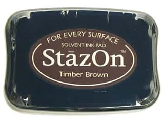 scrapbooking & paper crafts: Tsukineko StazOn Large Solvent Ink Stamp Pad Timber Brown
