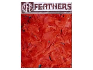 Feathers: Zucker Feather Turkey Plumage Feathers 1/2 oz. Red