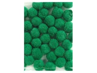 Clearance: PA Essentials Pom Poms 1/8 in. Green 40 pc.