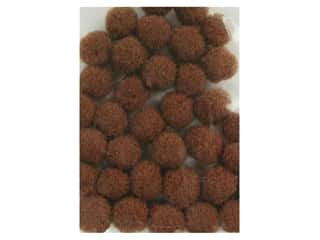 craft & hobbies: PA Essentials Pom Poms 1/8 in. Brown 40 pc.