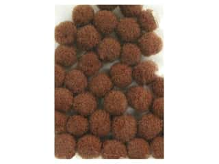 craft & hobbies: PA Essentials Pom Poms 3/16 in. Brown 40 pc.
