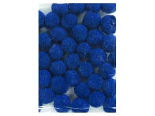 PA Essentials Pom Poms 3/16 in. Royal Blue 40 pc.