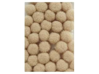 3 mm pom poms: Pom Pom by Accent Design 3/16 in. Beige 40pc. (3 packages)