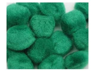 craft & hobbies: PA Essentials Pom Poms 3/8 in. Green 16 pc.