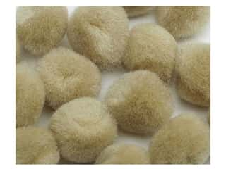 Clearance: PA Essentials Pom Poms 3/8 in. Beige 16 pc.