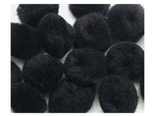 craft & hobbies: PA Essentials Pom Poms 3/4 in. Black 12 pc.