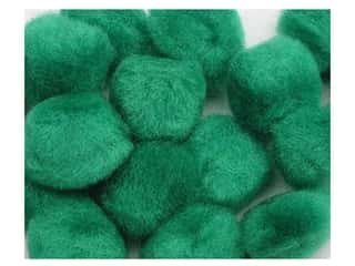 craft & hobbies: PA Essentials Pom Poms 3/4 in. Green 12 pc.